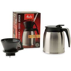 Melitta Thermal Stainless Steel 10Cup Pour Over Coffee Maker ** You can find out more details at the link of the image.