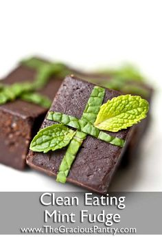 Clean Eating Fudge  •••••••••••••••••••••••••••••••••••••••••••••••   Ingredients  1/2 cup coconut butter (may need to be warmed slightly. NOT melted, warmed.)  1/2 cup honey  3/4 cup unsweetened coco powder  1 tsp. bourbon vanilla  1 tsp. high-quality mint extract (Don't skimp on this. It makes all the difference)