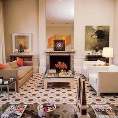 David Hicks loved using orange in his interiors