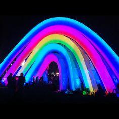 Rainbow Art Instillation At Coachella