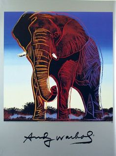 African Elephant by Andy Warhol   Endangered Species series