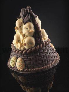 stampo campana di cioccolato - Stampo Guscio Campana Cesta di pulcini