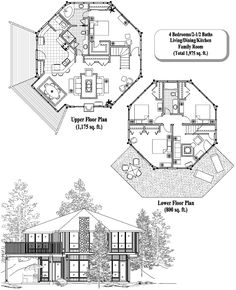 Story Octagon House Plans That Enables Octagonal Houses - Cool octagon house plans