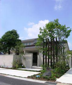 クローズスタイルエクステリア 和風 モダン 施工例、エクステリア、外構、ガーデン、お庭、アウトドアリビング、モダンデザイン、ザ・シーズン名古屋、デザイナー蟹江徹、