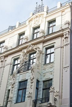 """Art Nouveau in Riga. Old Riga (Vecriga) and the Art Nouveau """"crescent"""" flanking it are two of the not-to-be-missed architectural wonders of Europe."""