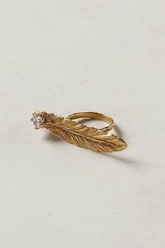 OCT 2013-Plume Two-Finger Ring #anthropologie
