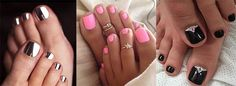 Toenail Polish Beach pedicure colors toe rings 48 ideas Wedding Invitation Wording for an Pink Gel, Pink Toe Nails, Toe Nail Color, Feet Nails, Toe Nail Art, Acrylic Nails, Bright Toe Nails, Toe Nail Polish, Nail Pink