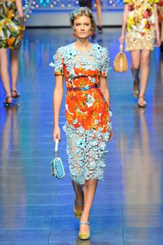 I don't have the figure to wear this, but I love it!  D&G Spring 2012