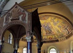 Ciborium and mosaics in the aps the Basilica of Sant Ambrogio in Milan (Italy): Event's pictures