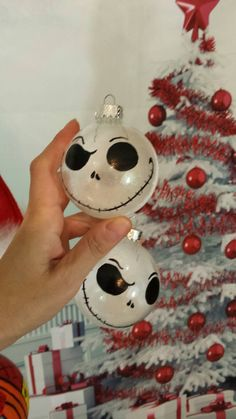 Nightmare before Christmas tree ornament set 3 hand