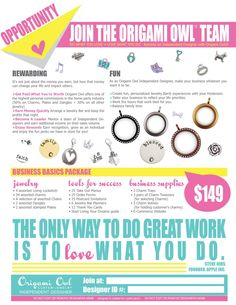 Looking to start your own Origami Owl Business? Signup today @ www.dollinevance.origamiowl.com #17000  #joinmyteam #origamiowl