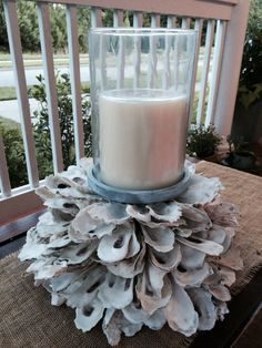 Beautiful Oyster Shell Candle Holder by PalmettoPearlDesigns, $150.00