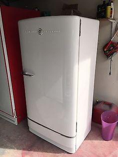 Restored Vintage Antique Retro 1950s GE Refrigerator Fridge Freezer Br Large Appliances