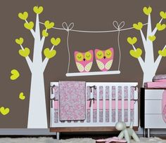 Owl wall decals --