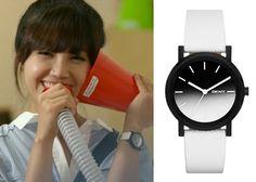"Jung Eun-Ji 정은지 in ""Trot Lovers"" Episode 8.  DKNY Soho White Leather Ombre Face Watch #Kdrama #TrotLovers 트로트의연인 #JungEunJi"