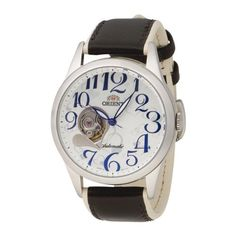 Orient Women's CDB01004W 50m Semi Skeleton with 21 Jewels See through Caseback Leather White Watch Orient. $180.00. Genuine leather band. Stainless steel case. Water resistant to 165 feet (50 M). Skeleton case-back