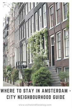 Where to stay in Amsterdam - city neighbourhood guide. #amsterdam #traveltips