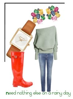 """""""Color on rainy day's"""" by suusbelle on Polyvore featuring Ross-Simons, Closed, Michael Kors, Hunter, hunter, Have, suusjuwelier en privatecollection"""