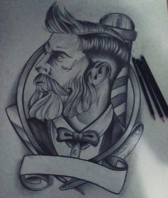 "1,605 lượt thích, 7 bình luận - barber tattoo (@_barbertattoo_) trên Instagram: ""Are you a barber and love tattoos ?? Follow @_BARBERTATTOO_ for more TATTOOS & Download…"" Barber Man, Barber Logo, Barber Tattoo, Elephant Thigh Tattoo, Calf Tattoo, Future Tattoos, Tattoos For Guys, Cool Tattoos, Pray Tattoo"
