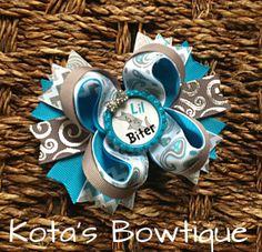 Little Biter Shark boutique bow by KotasBowtique on Etsy, $7.49