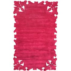 Posh Fuschia Area Rug