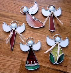 Stained Glass Art, Leaded, Mosaic, filigree, etc. Stained Glass Angel, Stained Glass Ornaments, Stained Glass Christmas, Stained Glass Designs, Stained Glass Projects, Stained Glass Patterns, Mosaic Glass, Fused Glass, Glass Boat