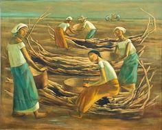 Figuration Feminine: Anita Magsaysay-Ho (1914) Historical Art, Feminine, Watercolor, Sculpture, Filipino, Drawings, Austria, Philippines, Artwork