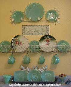 My Thrift Store Addiction : Jadeite Obsession: Updated! #VintageJadeite #FabulousFinds #ThriftStoreTreasures