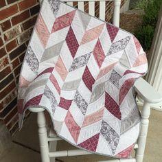 Herringbone Baby Quilt by Alovelydaytosew on Etsy https://www.etsy.com/listing/452154800/herringbone-baby-quilt