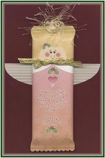 An angel printable to turn a candy bar into an extra sweet gift!