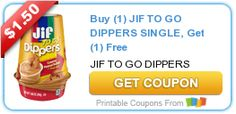Tri Cities On A Dime: BUY 1 JIF TO GO DIPPERS SINGLE, GET 1 FREE - A $1....