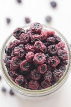 No sugar or oil needed, dried blueberries make a perfect snack and a great way to store those blueberries
