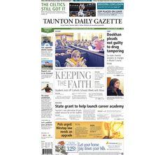 Taunton Daily Gazette #frontpage for Thursday, Jan. 31, 2013. #TauntonMA
