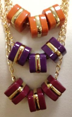 """Dale necklace  vintage resin and gold plated cubes  34"""" 18k gold plated chain $58"""