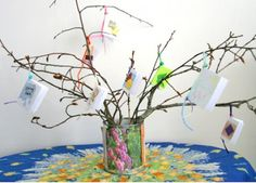 Make a sweet-looking PoeTree-- instructions for hanging tiny poem books from a tree branch . . .