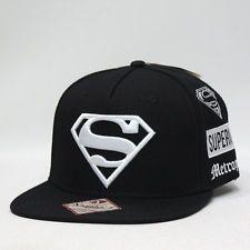 NEW DC Comics Superman BlackWhite Snapback Cap travel super hero gift flat  brim Gorras 571f35ca56b