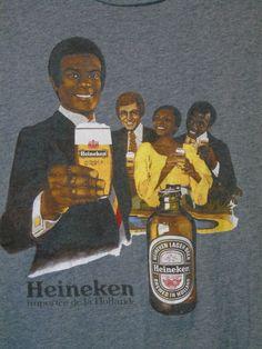 Heineken Beer Womens XL Retro T-shirt Brown Bottle Racial Equality Trump Creed #Heineken