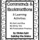 This file contains three activities for your students to practice identifying commands and exclamations. sentences based on content, not. 2nd Grade Ela, Second Grade, Types Of Sentences, Punctuation, Learning Resources, Sorting, Language Arts, Grammar, Prompts
