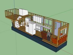 Tiny House Floor Plans furthermore 5th Wheel Tiny House Trailer ...