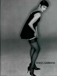 Isabella Rossellini by Michel Comte for Dolce & Gabbana, 1994