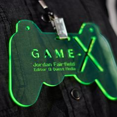 Custom Fluorescent Green Conference Badges - Laser Cutting Lab, LLC
