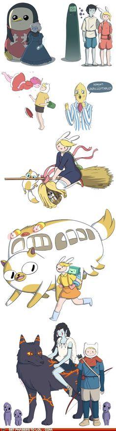 Miyazaki/adventure time mashup