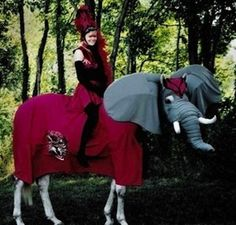 I made this costume for a friend. It was surprising that the horse put up with it. he even fell asleep while wearing it Elephant Costume for Horse Horse Halloween Costumes, Pet Costumes, Cool Costumes, Costume Ideas, Circus Costume, Halloween Tips, Creative Costumes, Costume Contest, Fall Halloween