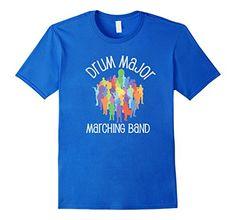 Men's Drum Major School Marching Band Camp Music T-shirt…