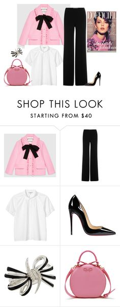 """outfit 3840"" by natalyag ❤ liked on Polyvore featuring Gucci, Diane Von Furstenberg, Monki, Christian Louboutin and Stephen Webster"