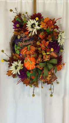 Wreaths For Front Door, Door Wreaths, Grapevine Wreath, Burlap Wreath, Autumn Wreaths, Thanksgiving Wreaths, Holiday Wreaths, Country Farmhouse Decor, Farmhouse Chic