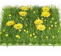 Buy your spring retail displays with ease. Create beautiful windows with a spring theme with these 24 cm square grass panels with daisies | Buy Online Now