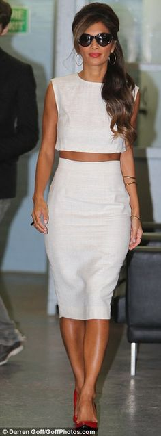 Dressed to impress: Despite her overly slim shape, Nicole still looked fierce in her ensemble