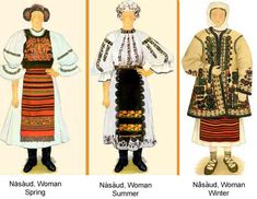 Romania Folk Natioanl Ethnic Popular Costumes