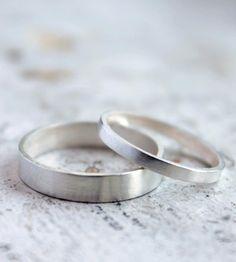 Tae and Sunhwa's wedding rings (Sunhwa wanted something simple) #silverweddingring #silverring #ringcanada #canada